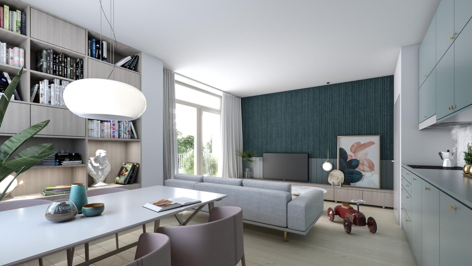 rezidence Obvodová – vizualizace interiér